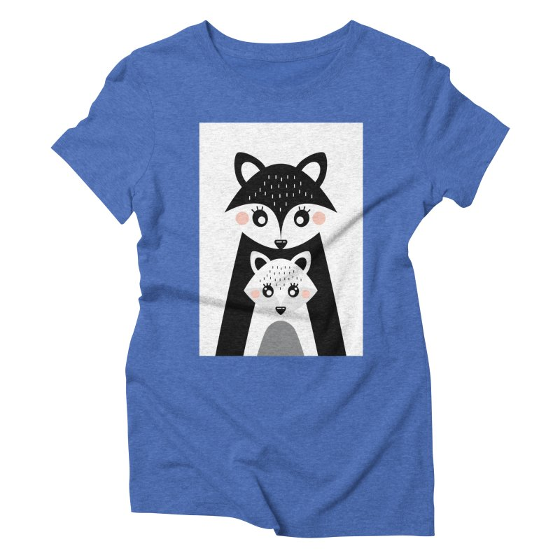 MAMA FOX & BABY FOX Women's Triblend T-Shirt by IF Creation's Artist Shop