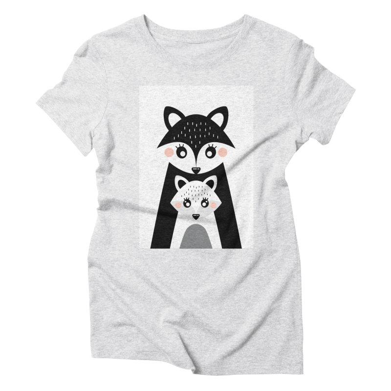 MAMA FOX & BABY FOX Women's Triblend T-Shirt by IF Creation's Artist Shop