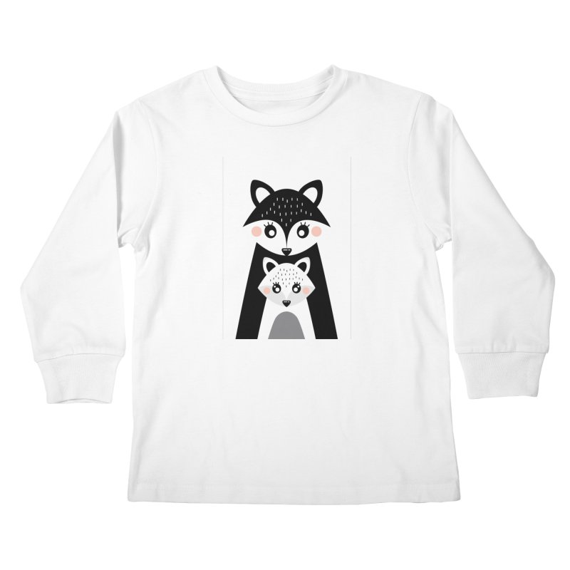 MAMA FOX & BABY FOX Kids Longsleeve T-Shirt by IF Creation's Artist Shop