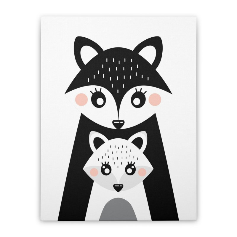 MAMA FOX & BABY FOX Home Stretched Canvas by IF Creation's Artist Shop
