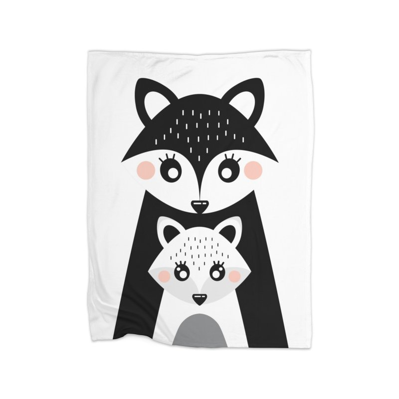 MAMA FOX & BABY FOX Home Blanket by IF Creation's Artist Shop