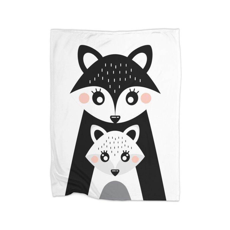 MAMA FOX & BABY FOX Home Fleece Blanket Blanket by IF Creation's Artist Shop
