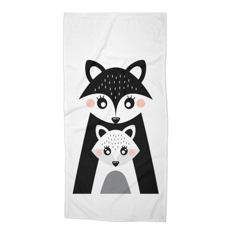 MAMA FOX & BABY FOX Accessories Beach Towel by IF Creation's Artist Shop