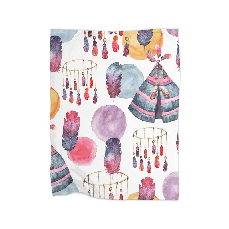 TRIBE DESIGN in Fleece Blanket Blanket by IF Creation's Artist Shop
