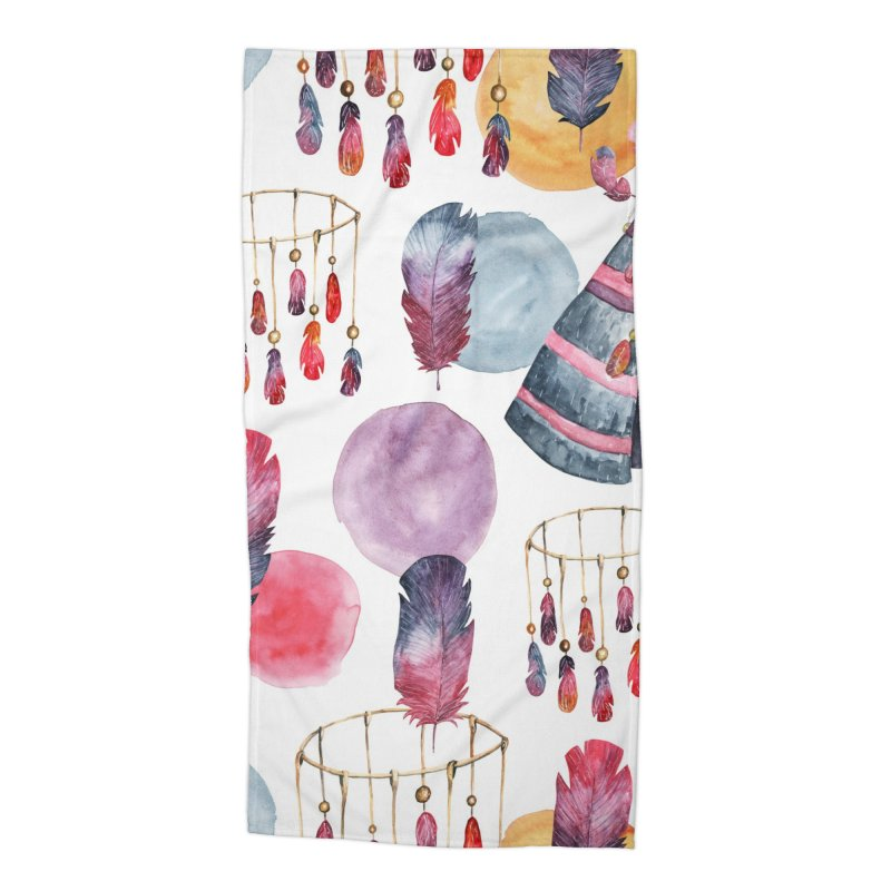 TRIBE DESIGN Accessories Beach Towel by IF Creation's Artist Shop