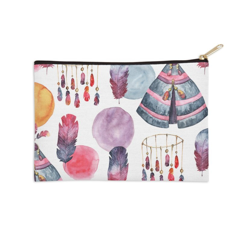 TRIBE DESIGN Accessories Zip Pouch by IF Creation's Artist Shop