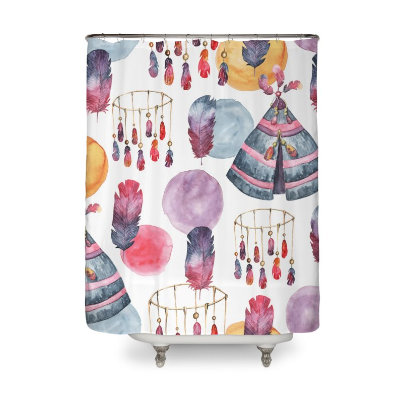 TRIBE DESIGN Home Shower Curtain by IF Creation's Artist Shop