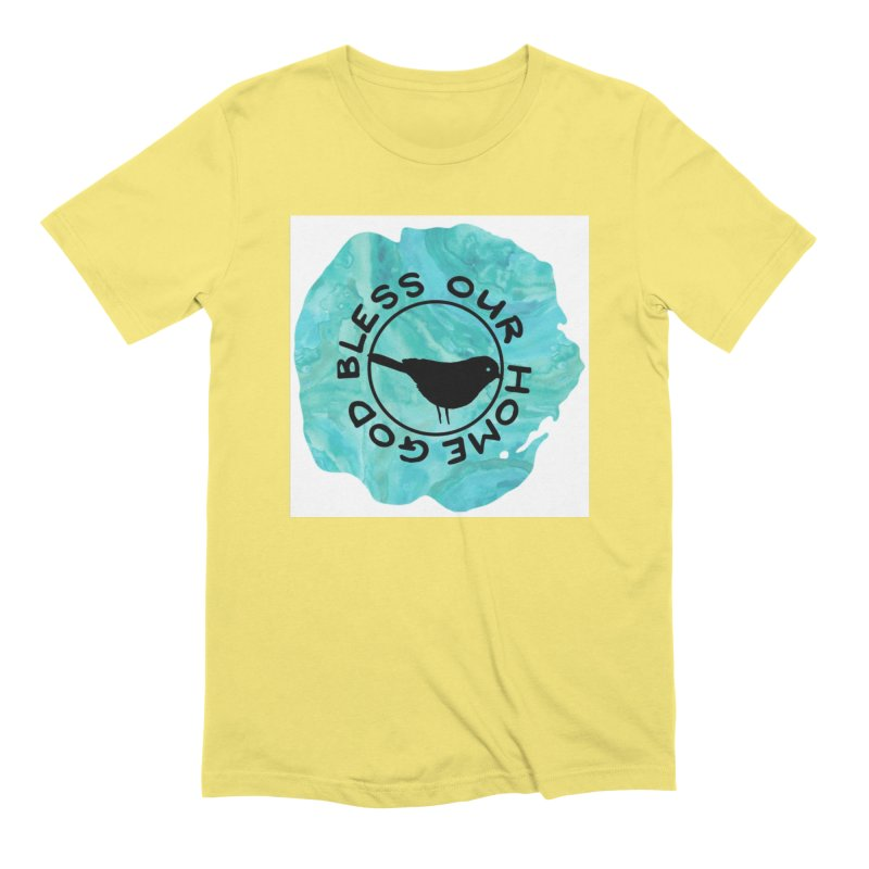 God Bless Our Home Men's Extra Soft T-Shirt by IF Creation's Artist Shop