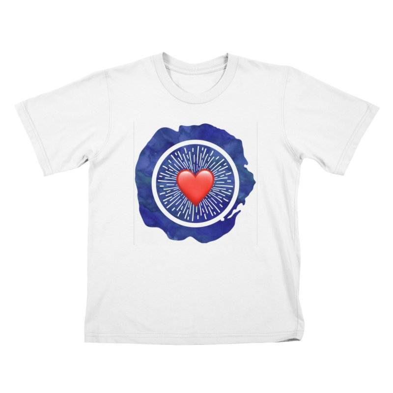 Red Heart Blue Stamp Kids Toddler T-Shirt by IF Creation's Artist Shop