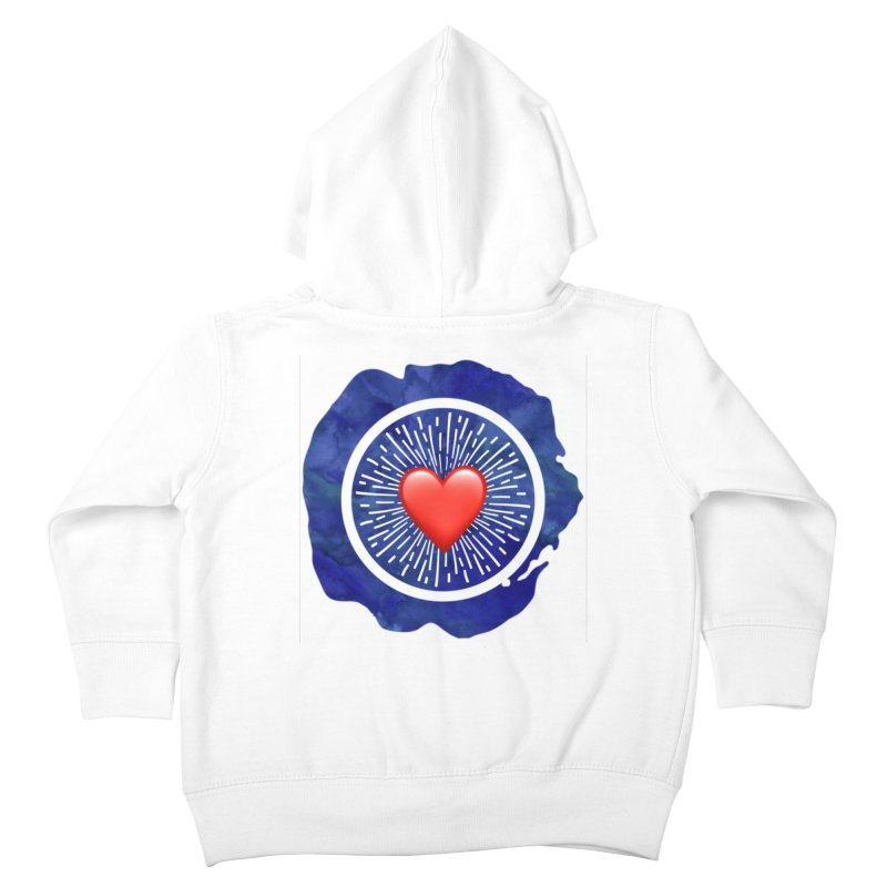 Red Heart Blue Stamp Kids Toddler Zip-Up Hoody by IF Creation's Artist Shop