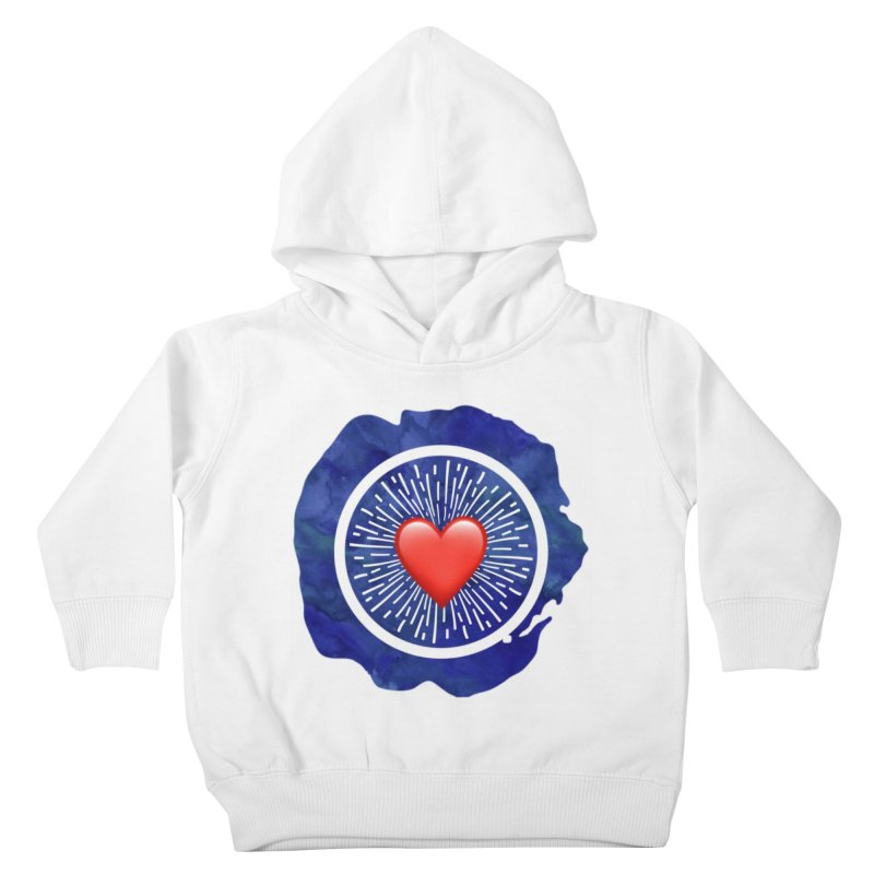 Red Heart Blue Stamp Kids Toddler Pullover Hoody by IF Creation's Artist Shop