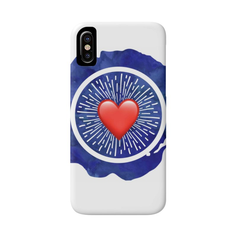 Red Heart Blue Stamp Accessories Phone Case by IF Creation's Artist Shop