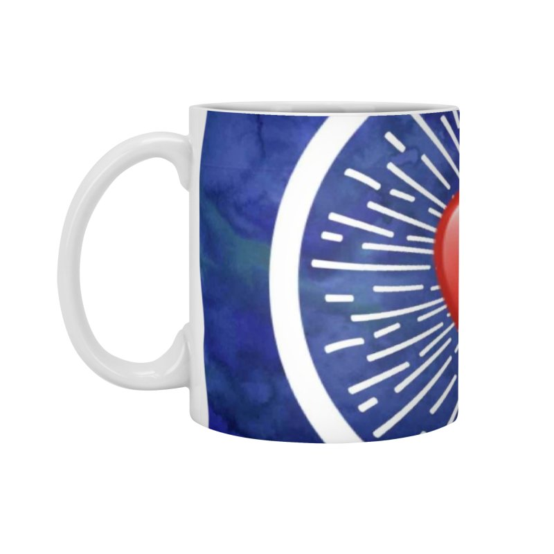 Red Heart Blue Stamp Accessories Mug by IF Creation's Artist Shop