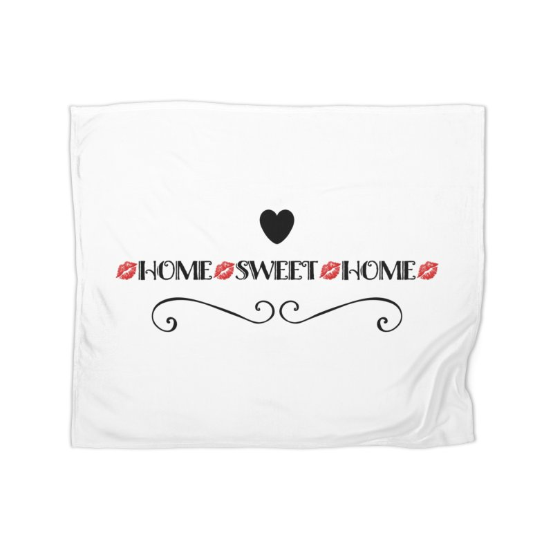 Home sweet home Home Fleece Blanket Blanket by IF Creation's Artist Shop