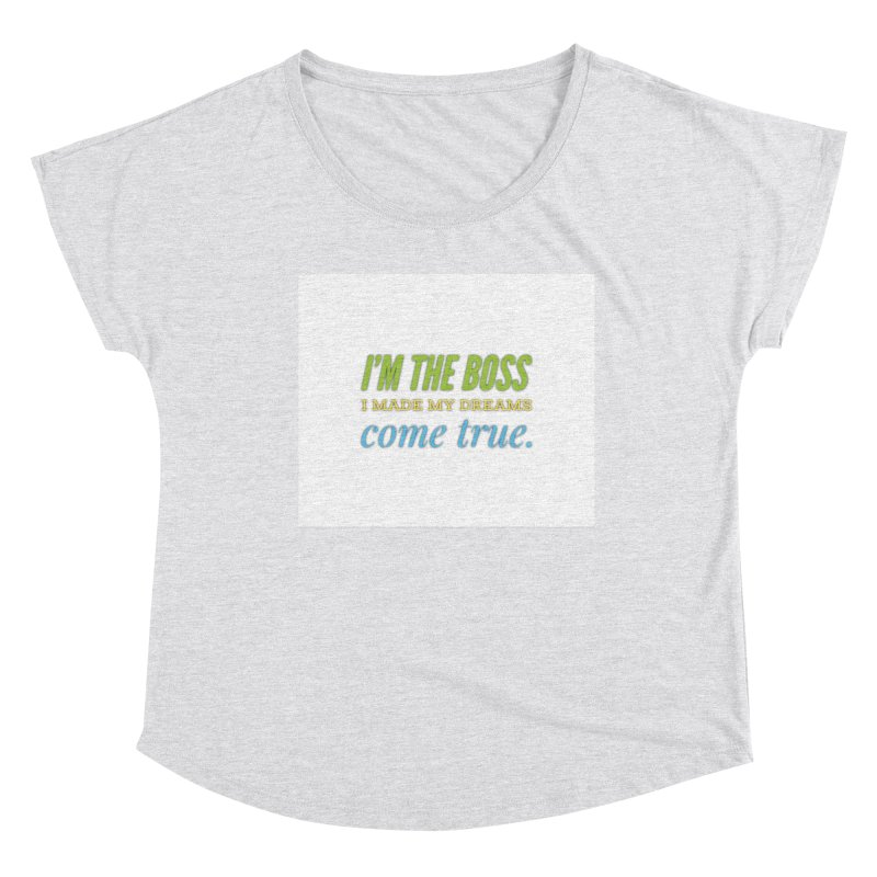I'm the Boss Women's Scoop Neck by IF Creation's Artist Shop