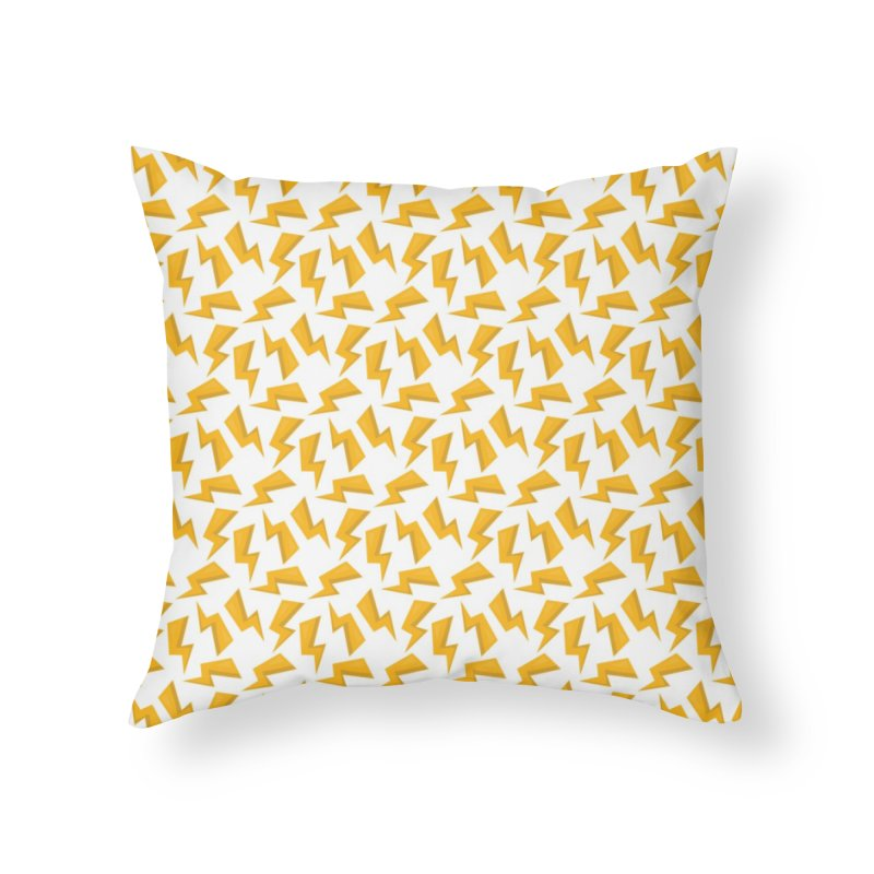 Wizard Yellow Zap Flash Home Throw Pillow by IF Creation's Artist Shop