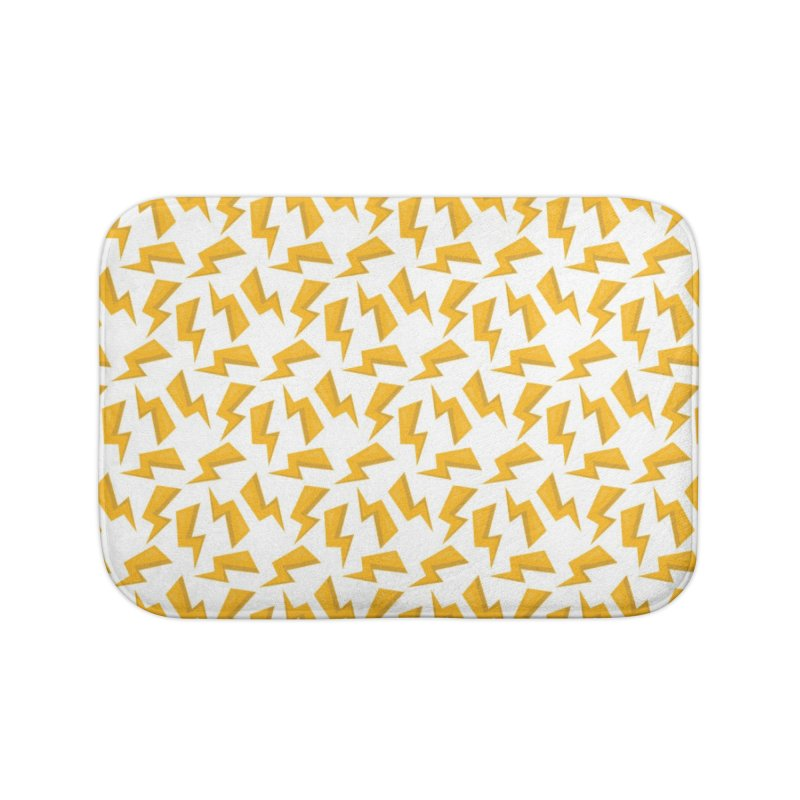 Wizard Yellow Zap Flash Home Bath Mat by IF Creation's Artist Shop