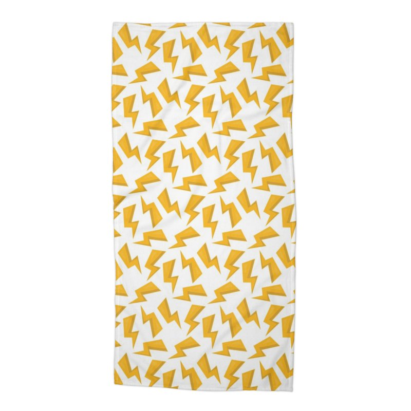 Wizard Yellow Zap Flash Accessories Beach Towel by IF Creation's Artist Shop