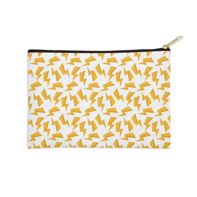Wizard Yellow Zap Flash Accessories Zip Pouch by IF Creation's Artist Shop