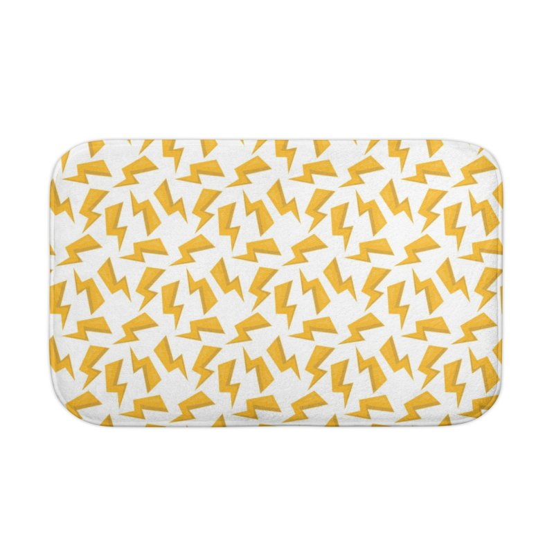 Wizard Yellow Zap Flash Home Bath Mat by IF Creation's Artist Shop