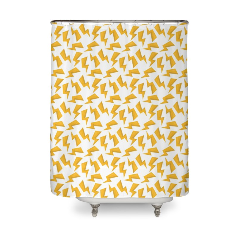 Wizard Yellow Zap Flash Home Shower Curtain by IF Creation's Artist Shop