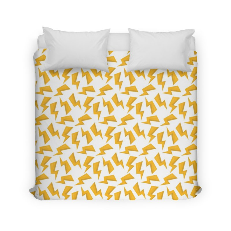 Wizard Yellow Zap Flash Home Duvet by IF Creation's Artist Shop