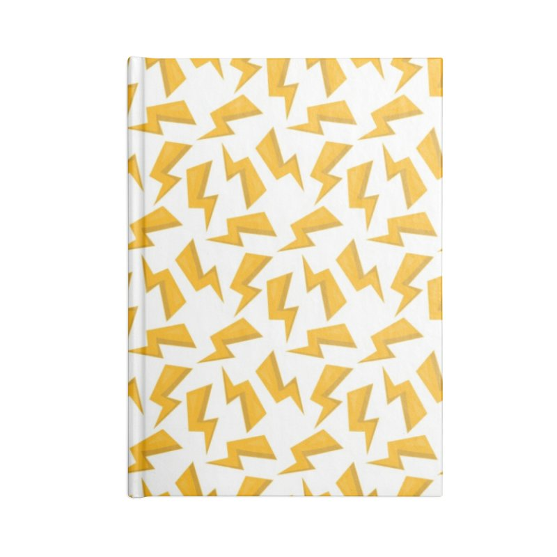 Wizard Yellow Zap Flash Accessories Blank Journal Notebook by IF Creation's Artist Shop