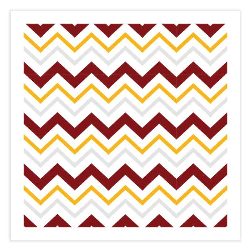 Maroon & Mustard Yellow Zigzag Home Fine Art Print by IF Creation's Artist Shop