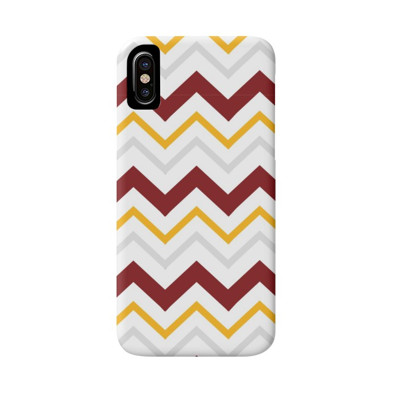 Maroon & Mustard Yellow Zigzag Accessories Phone Case by IF Creation's Artist Shop