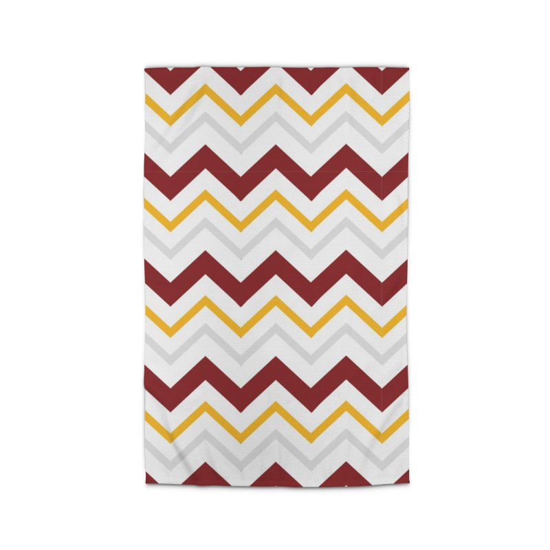Maroon & Mustard Yellow Zigzag Home Rug by IF Creation's Artist Shop