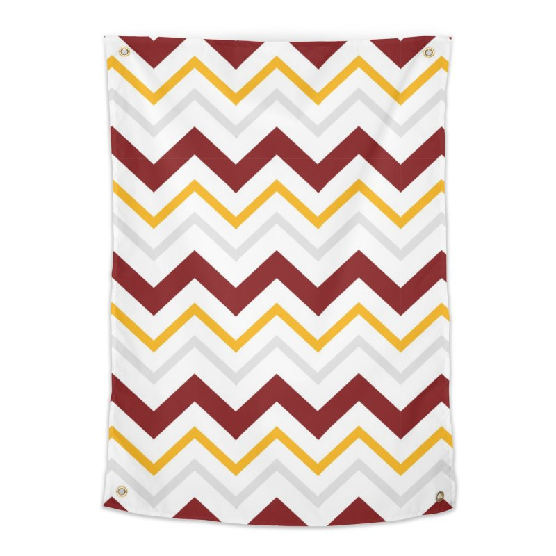 Maroon & Mustard Yellow Zigzag Home Tapestry by IF Creation's Artist Shop