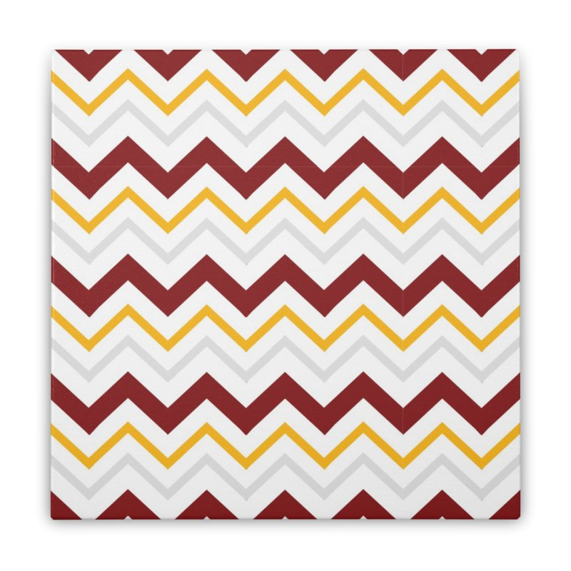 Maroon & Mustard Yellow Zigzag Home Stretched Canvas by IF Creation's Artist Shop