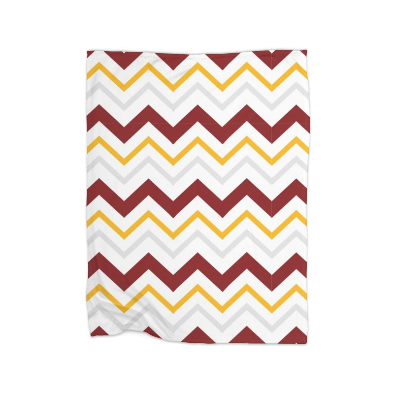 Maroon & Mustard Yellow Zigzag Home Blanket by IF Creation's Artist Shop