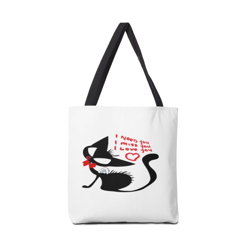 Cute Pussy Cat Love Accessories Tote Bag Bag by IF Creation's Artist Shop