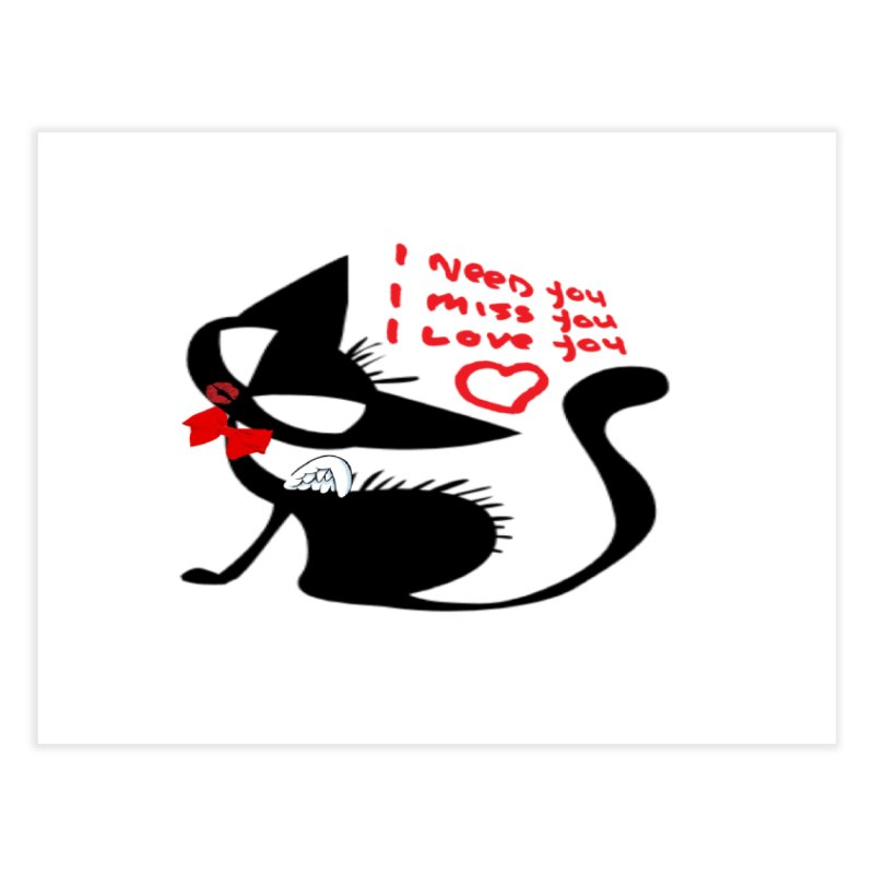 Cute Pussy Cat Love Home Bath Mat by IF Creation's Artist Shop