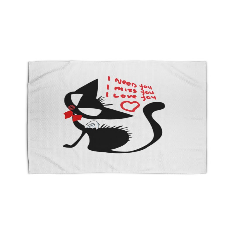 Cute Pussy Cat Love Home Rug by IF Creation's Artist Shop