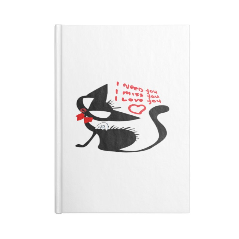 Cute Pussy Cat Love Accessories Blank Journal Notebook by IF Creation's Artist Shop
