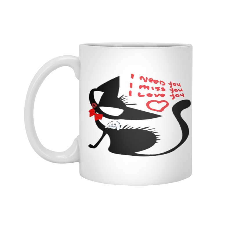 Cute Pussy Cat Love Accessories Mug by IF Creation's Artist Shop