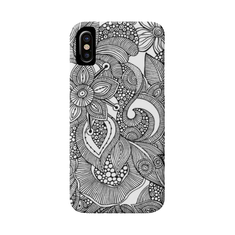 BLACK & WHITE FLORAL Accessories Phone Case by IF Creation's Artist Shop