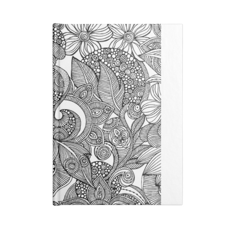BLACK & WHITE FLORAL Accessories Blank Journal Notebook by IF Creation's Artist Shop