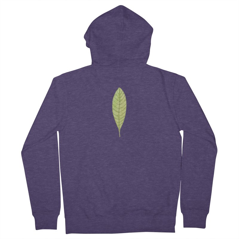 GREEN LEAF Men's Zip-Up Hoody by IF Creation's Artist Shop