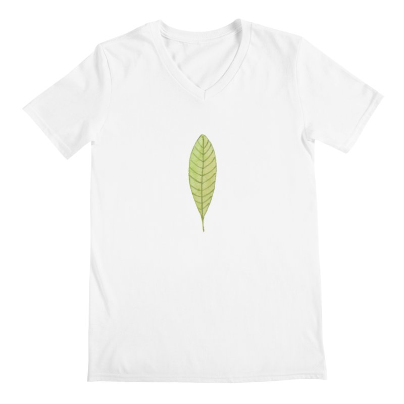 GREEN LEAF Men's V-Neck by IF Creation's Artist Shop