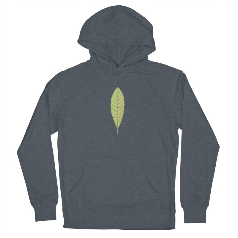 GREEN LEAF Women's French Terry Pullover Hoody by IF Creation's Artist Shop