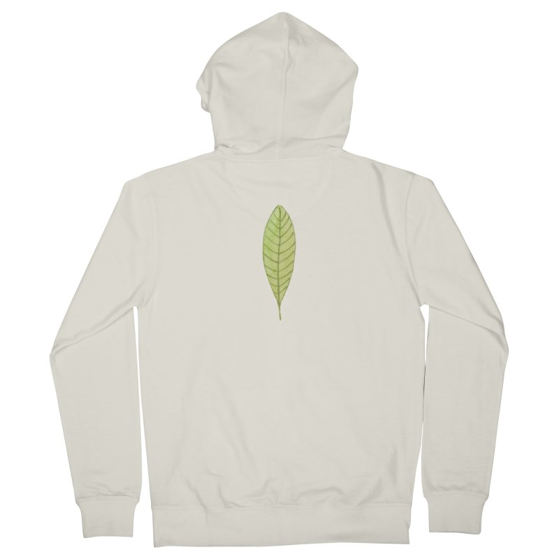 GREEN LEAF Women's French Terry Zip-Up Hoody by IF Creation's Artist Shop