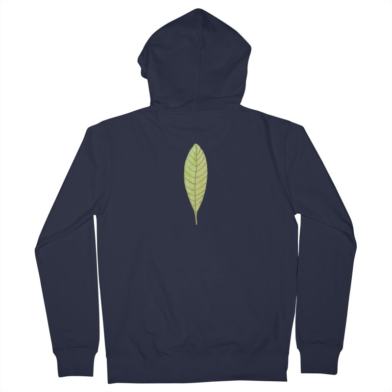 GREEN LEAF Men's French Terry Zip-Up Hoody by IF Creation's Artist Shop