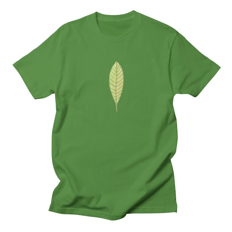 GREEN LEAF Men's Regular T-Shirt by IF Creation's Artist Shop