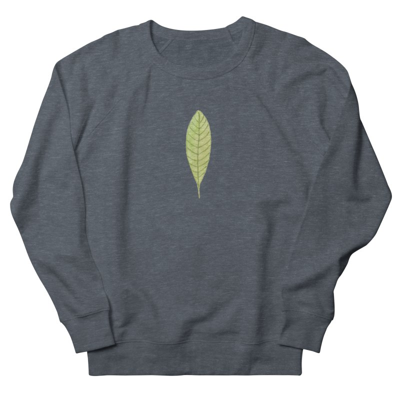 GREEN LEAF Women's French Terry Sweatshirt by IF Creation's Artist Shop
