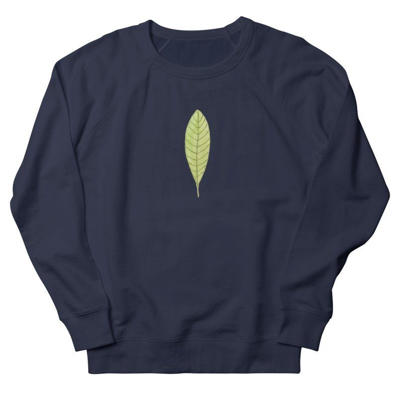GREEN LEAF Men's French Terry Sweatshirt by IF Creation's Artist Shop