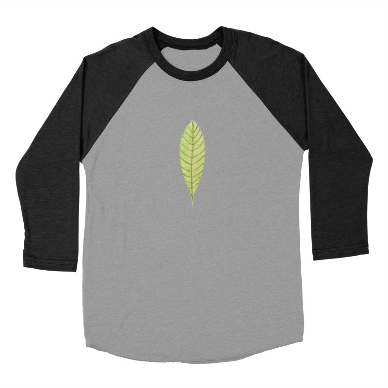 GREEN LEAF Women's Baseball Triblend Longsleeve T-Shirt by IF Creation's Artist Shop