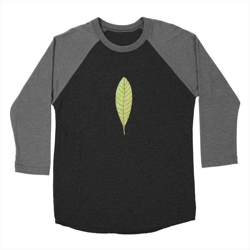 GREEN LEAF Men's Baseball Triblend Longsleeve T-Shirt by IF Creation's Artist Shop